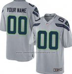 Camisetas NFL Limited Hombre Seattle Seahawks Personalizada Gris