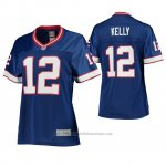 Camiseta NFL Limited Mujer Buffalo Bills Jim Kelly 12 Azul Replica
