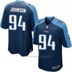 Camiseta Tennessee Titans Johnson Azul Oscuro Nike Game NFL Nino