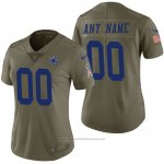 Camiseta NFL Limited Mujer Dallas Cowboys Personalizada 2017 Salute To Service Verde