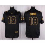 Camiseta Green Bay Packers Cobb Negro Nike Elite Pro Line Gold NFL Hombre