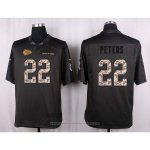 Camiseta Kansas City Chiefs Peters Apagado Gris Nike Anthracite Salute To Service NFL Hombre