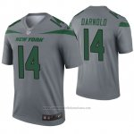 Camiseta NFL Legend New York Jets 14 Sam Darnold Inverted Gris