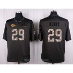 Camiseta Kansas City Chiefs Berry Apagado Gris Nike Anthracite Salute To Service NFL Hombre