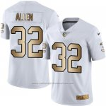 Camiseta Oakland Raiders Allen Blanco Nike Gold Legend NFL Hombre