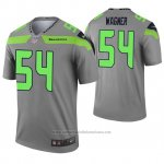 Camiseta NFL Legend Seattle Seahawks 54 Bobby Wagner Inverted Gris