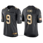 Camiseta Dallas Cowboys Romo Negro 2016 Nike Gold Anthracite Salute To Service NFL Hombre