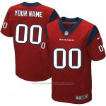 Camisetas NFL Elite Hombre Houston Texans Personalizada Rojo