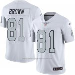 Camiseta Oakland Raiders Brown Blanco Nike Legend NFL Hombre