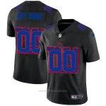 Camiseta NFL Limited New York Giants Personalizada Logo Dual Overlap Negro