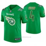 Camiseta NFL Limited Hombre Tennessee Titans Ryan Succop St. Patrick's Day Verde