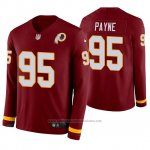 Camiseta NFL Hombre Washington Redskins Daron Payne Burgundy Therma Manga Larga