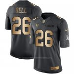 Camiseta Pittsburgh Steelers Bell Negro 2016 Nike Gold Anthracite Salute To Service NFL Hombre