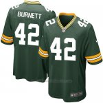 Camiseta Green Bay Packers Burnett Verde Militar Nike Game NFL Nino