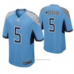 Camiseta NFL Game Hombre Tennessee Titans Logan Woodside Azul Luminoso