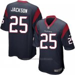 Camiseta Houston Texans Jackson Negro Nike Game NFL Hombre