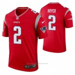 Camiseta NFL Legend New England Patriots Legend Brian Hoyer Inverted Rojo