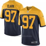 Camiseta Green Bay Packers Clark Negro Amarillo Nike Game NFL Nino