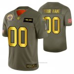 Camiseta NFL Limited New Orleans Saints Personalizada 2019 Salute To Service Verde