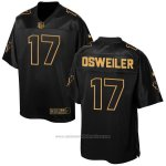 Camiseta Houston Texans Osweiler Negro 2016 Nike Elite Pro Line Gold NFL Hombre