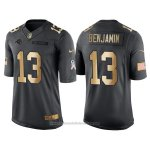 Camiseta Carolina Panthers Benjamin Negro 2016 Nike Gold Anthracite Salute To Service NFL Hombre