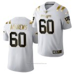 Camiseta NFL Limited New England Patriots David Andrews Golden Edition 2020 Blanco