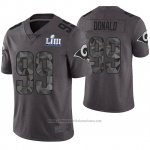 Camiseta NFL Limited Hombre Los Angles Rams Aaron Donald Gris Super Bowl LIII