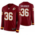Camiseta NFL Hombre Washington Redskins Dj Swearinger Burgundy Therma Manga Larga