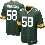 Camiseta Green Bay Packers Barrington Verde Militar Nike Game NFL Nino