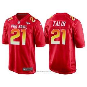 7680037189a89 Camiseta NFL Hombre Denver Broncos 21 Aqib Talib Rojo AFC 2018 Pro Bowl