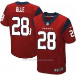 Camiseta Houston Texans Blue Rojo Nike Elite NFL Hombre
