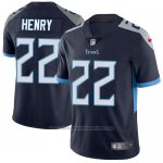 Camiseta NFL Limited Hombre Tennessee Titans 22 Derrick Henry Azul Alterno Stitched Vapor Untouchable