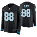 Camiseta NFL Hombre Carolina Panthers Greg Olsen Negro Therma Manga Larga