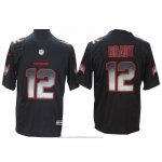 Camiseta NFL Limited Tampa Bay Buccaneers 12 Tom Brady Smoke Fashion Negro