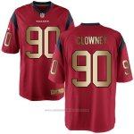 Camiseta Houston Texans Clowney Rojo Nike Gold Game NFL Hombre2