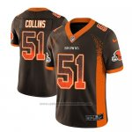 Camiseta NFL Limited Cleveland Browns Jamie Collins Marron 2018 Drift Fashion Color Rush
