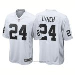 Camiseta NFL Limited Hombre Las Vegas Raiders 24 Marshawn Lynch Game Blanco