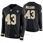 Camiseta NFL Hombre New Orleans Saints Marcus Williams Negro Therma Manga Larga