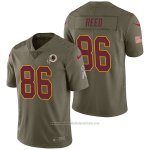 Camiseta NFL Limited Hombre Washington Redskins 86 Jordan Reed 2017 Salute To Service Verde