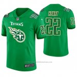 Camiseta NFL Limited Hombre Tennessee Titans Derrick Henry St. Patrick's Day Verde