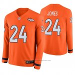 Camiseta NFL Hombre Denver Broncos Adam Jones Naranja Therma Manga Larga