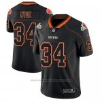 Camiseta NFL Limited Cleveland Browns Carlos Hyde Negro Color Rush 2018 Lights Out