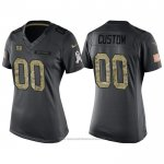 Camiseta NFL Limited Mujer New York Giants Personalizada 2016 Salute To Service Negro