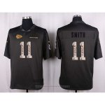 Camiseta Kansas City Chiefs Smith Apagado Gris Nike Anthracite Salute To Service NFL Hombre