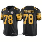 Camiseta NFL Limited Hombre 78 Villanueva Pittsburgh Steelers Negro