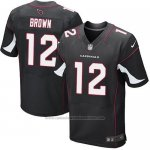 Camiseta Arizona Cardinals Brown Negro Nike Elite NFL Hombre