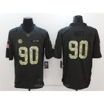 Camiseta NFL Anthracite Hombre Pittsburgh Steelers 90 Watt Negro