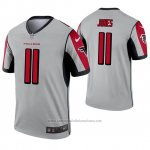 Camiseta NFL Legend Atlanta Falcons 11 Julio Jones Inverted Gris