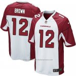 Camiseta Arizona Cardinals Brown Blanco Rojo Nike Game NFL Hombre