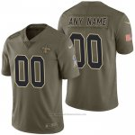 Camiseta NFL Limited New Orleans Saints Personalizada 2017 Salute To Service Verde